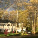 Rainbow over our house